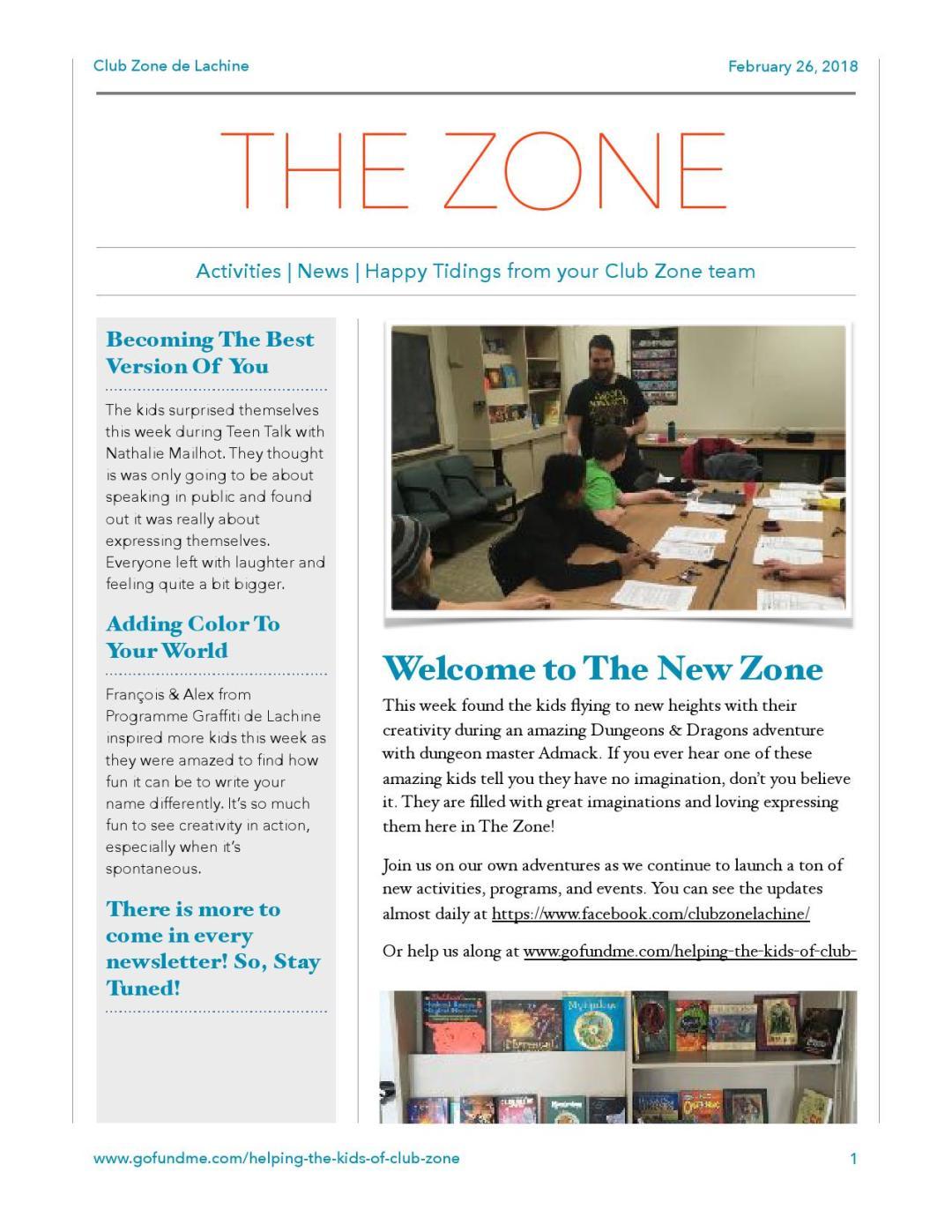 Club Zone Newsletter 2018-02-26-1