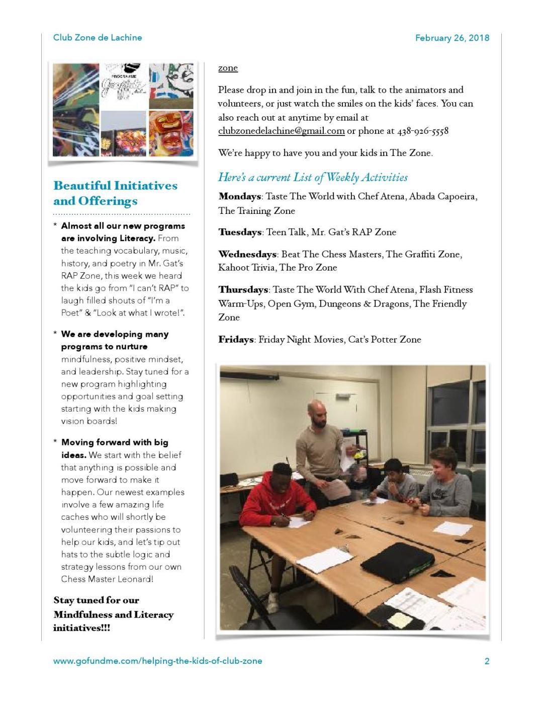 Club Zone Newsletter 2018-02-26-2