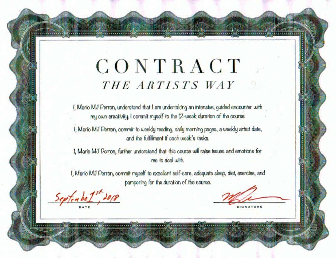My Artist Way Contract