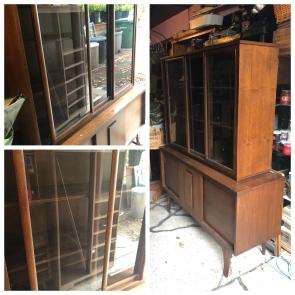 Mid-Century Curio Cabinet before